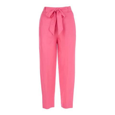 Mint Velvet Pink Tie Belt Peg Trousers