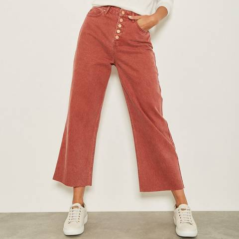 Mint Velvet Madison Rust Raw Hem Jeans