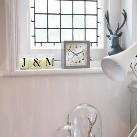 London Clock Company Grey Express Clock 16x16x5cm