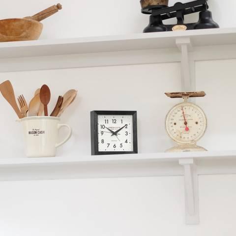 London Clock Company Black Express Black Clock 16x16x5cm