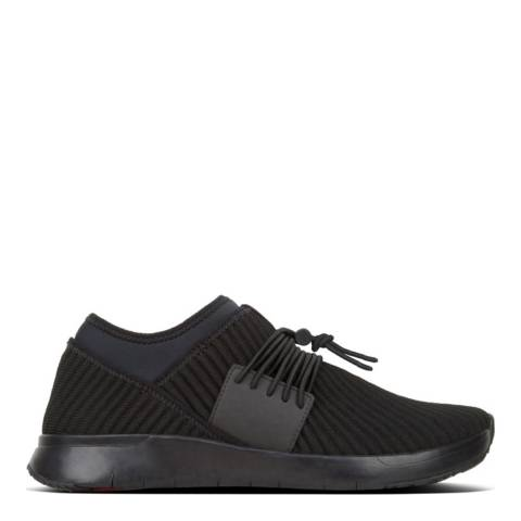 FitFlop Black Artknit Lace Up Sneaker
