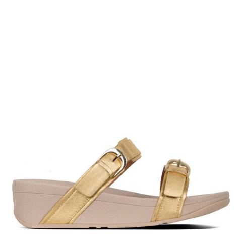 FitFlop Gold Edit Metallic Leather Slide