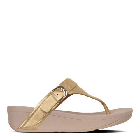 FitFlop Gold Adjustable Edit Toe Thong
