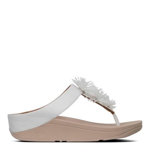 FitFlop White Fino Bead Pompom Toe Thong