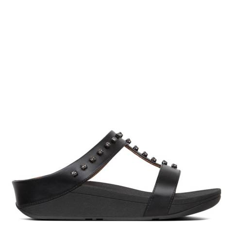FitFlop Black Fino Treasure Slide Sandal