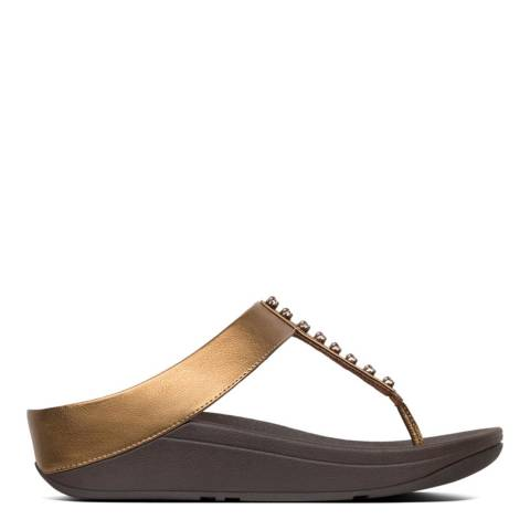FitFlop Gold Fino Treasure Toe Thong Sandal
