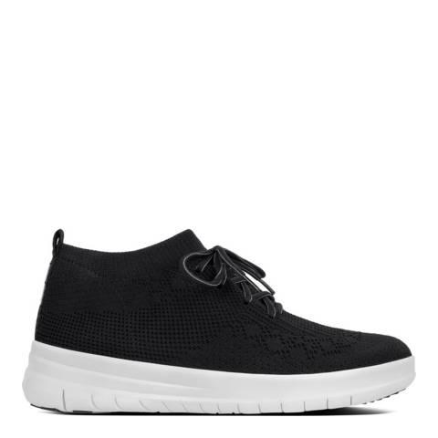 FitFlop Black Uberknit Slip On High Top Sneaker