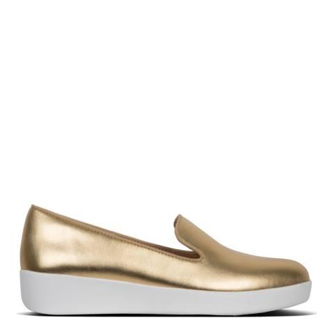 FitFlop Artisan Gold Audrey Metallic Smoking Loafer