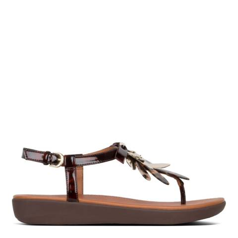 FitFlop Tia Dragonfly Tortoiseshell Leather Sandal