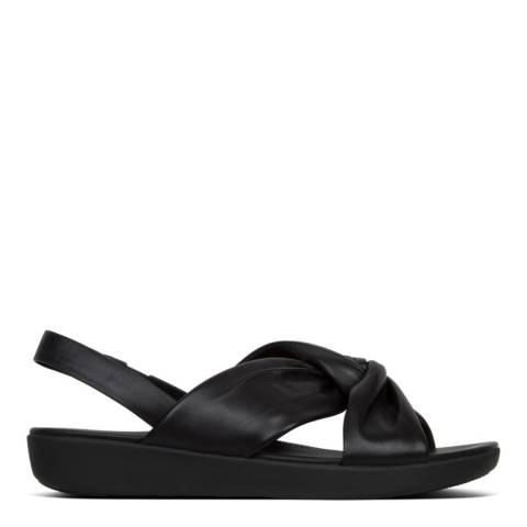 FitFlop Black Leather Back Strap Sandal
