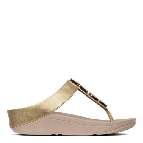FitFlop Gold Fino Hexy Toe Thong Sandal