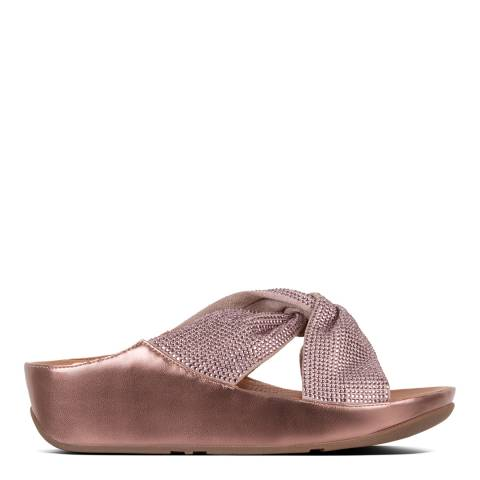 FitFlop Bronze Metallic Twiss Crystal Slide