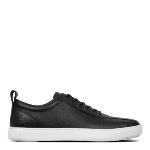 FitFlop Black Tiler Leather Sneaker