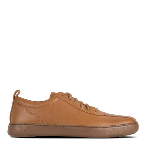 FitFlop Light Tan Tiler Leather Sneaker