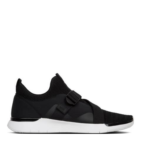 FitFlop Black Flexknit V Strap Sneaker