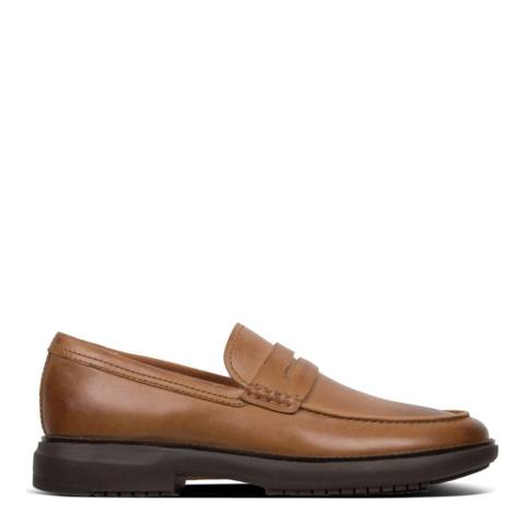 FitFlop Light Tan Irving Leather Loafer