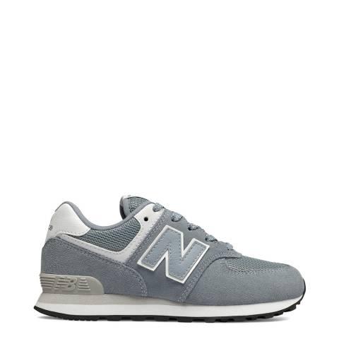 New Balance Kids Light Grey Suede Trainer