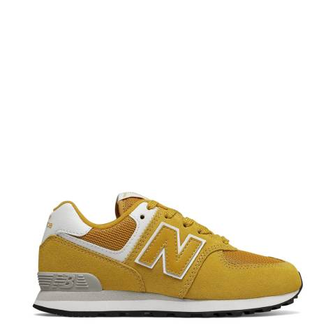 New Balance Kids Yellow Suede Trainer