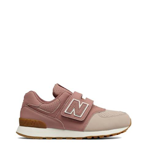 New Balance Kids Dark Oxide Suede Trainer