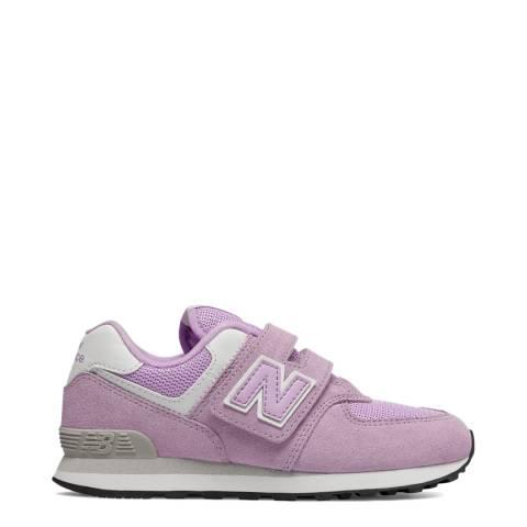 New Balance Kids Purple Suede Trainer