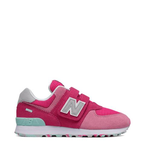 New Balance Kids Pink Suede Trainer