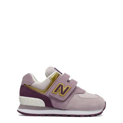 New Balance Baby Light Purple Suede Trainers