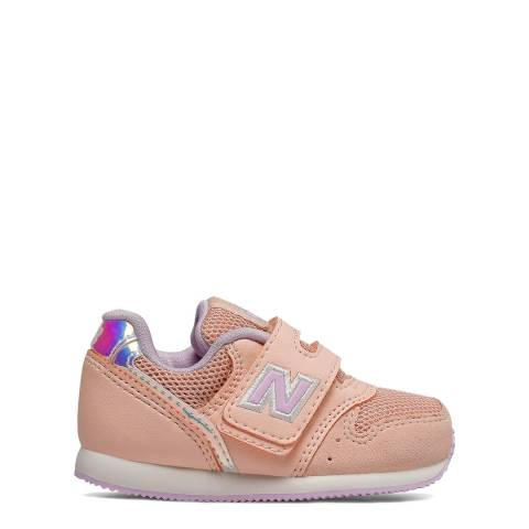 New Balance Baby Pink Suede Trainers