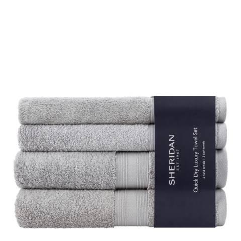 Sheridan Quick Dry Towel Bale, Silver
