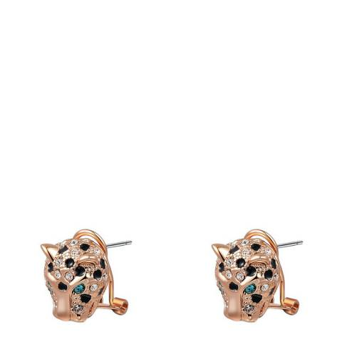 Ma Petite Amie Leopard Earrings with Swarovski Crystals