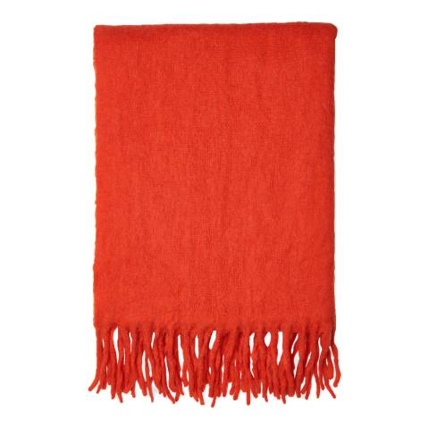 WHISTLES Red Open Weave Blanket Scarf