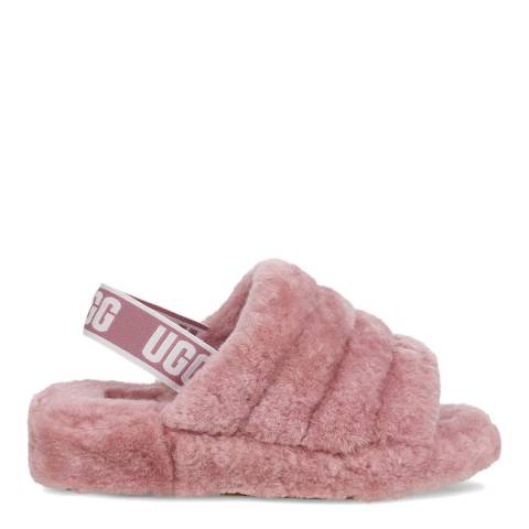 UGG Powder Pink Fluff Yeah Slide Slipper