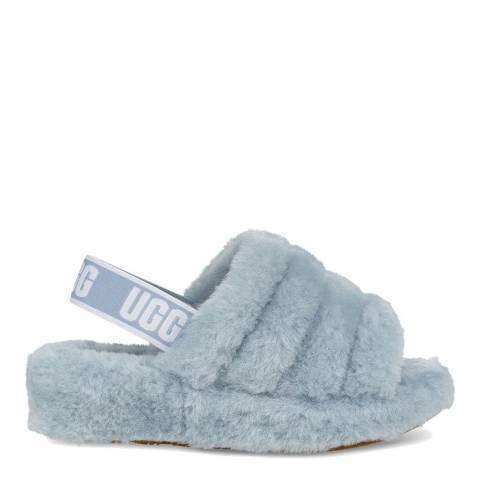 UGG Light Blue Fluff Yeah Slide Slipper