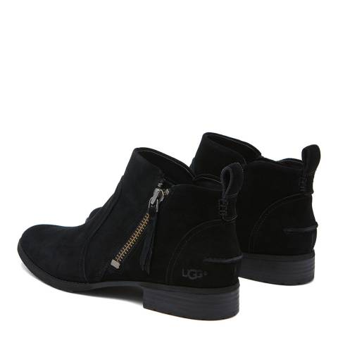 UGG Black Suede Aureo Ankle Boot