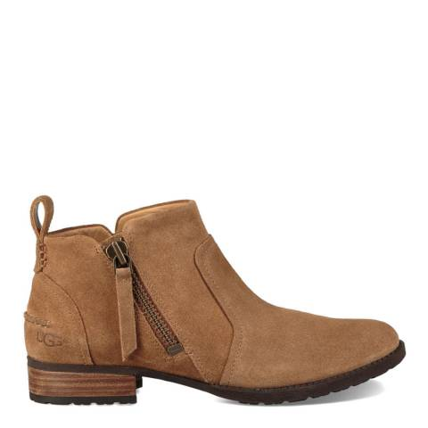 UGG Chestnut Suede Aureo Ankle Boot