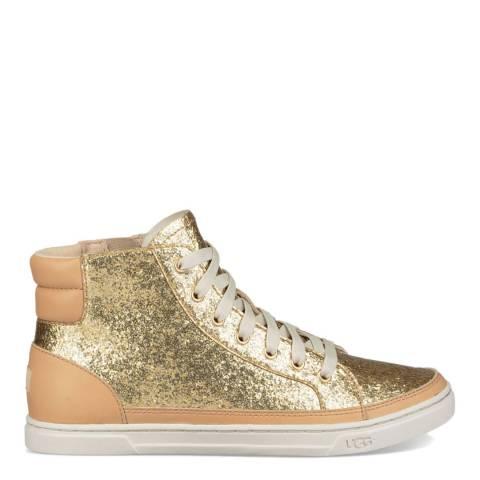 UGG Gold Gradie Glitter Sneaker
