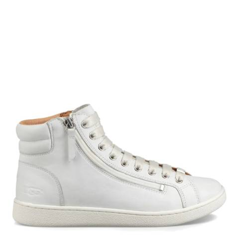 UGG White Olive Leather Sneaker