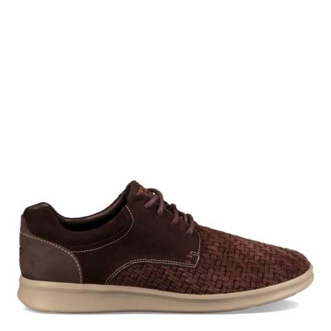UGG Brown Hepner Woven Luxe Shoe