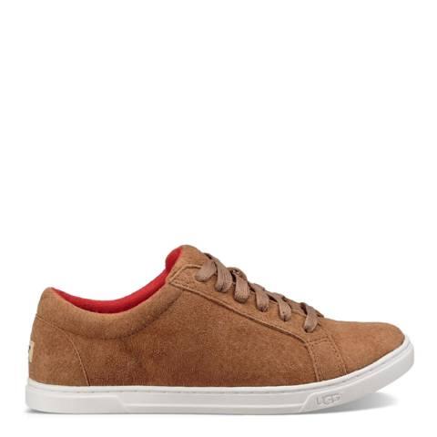 UGG Chestnut Karine Suede Sneaker
