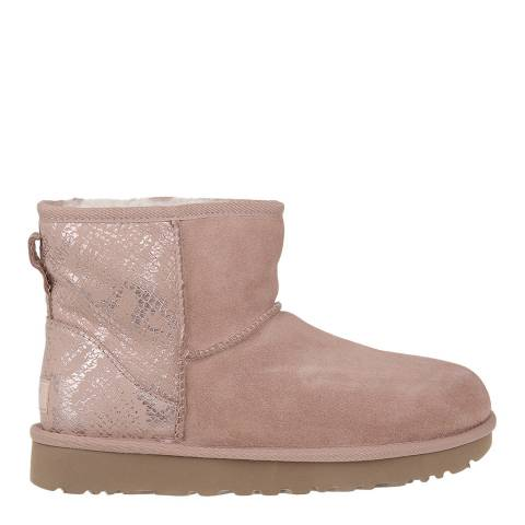 UGG Rose Gold Classic Mini Metallic Snake Boot