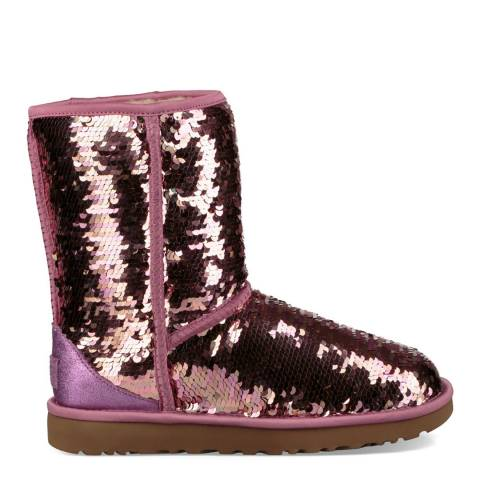UGG Pink Classic Short Sequin Boot