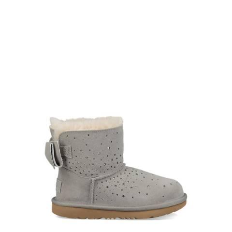 UGG Grey Classic II Stargirl Bow Mini Boots