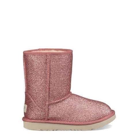 UGG Pink Short II Glitter Boot