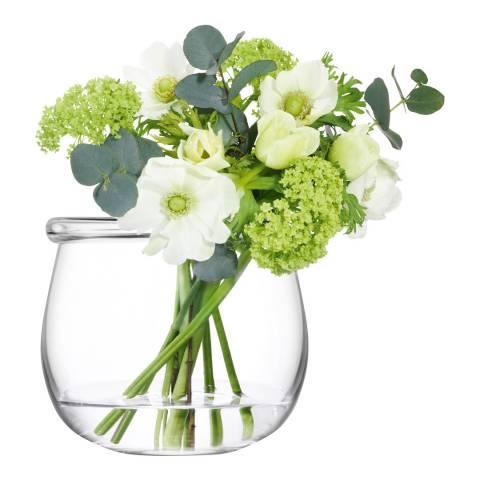 LSA Clear Collar Vase, 15cm