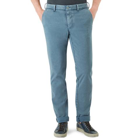 7 For All Mankind Blue Tailored Chinos