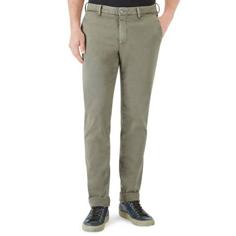 7 For All Mankind Khaki Tailored Chino