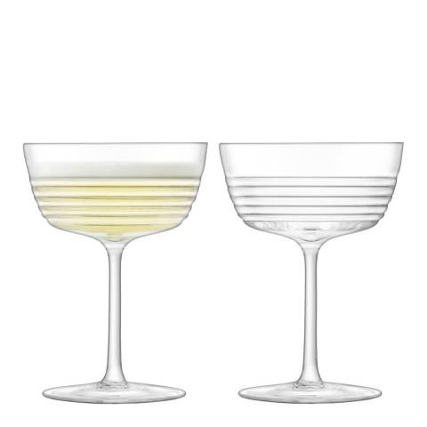 LSA Set of 2 Groove Cocktail Glasses, 265ml