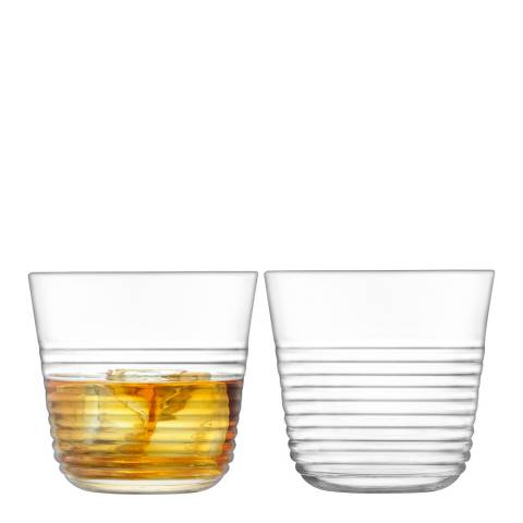 LSA Set of 2 Groove Tumblers, 330ml