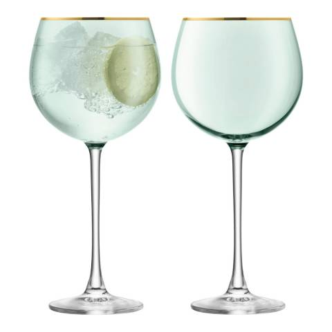 LSA Set of 2 Melon Sorbet Balloon Glasses, 525ml