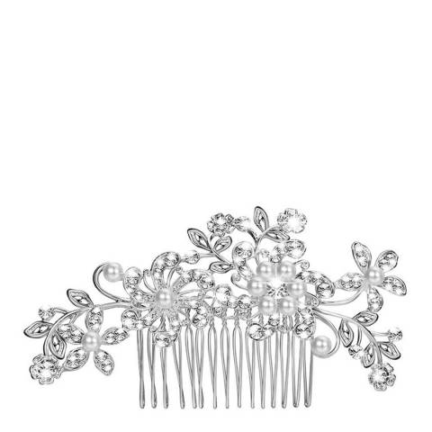 White label by Liv Oliver Silver Pearl & Crystal Hair Piece