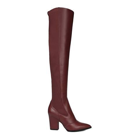 Sam Edelman Tango Red Natasha Leather Over the Knee Boot